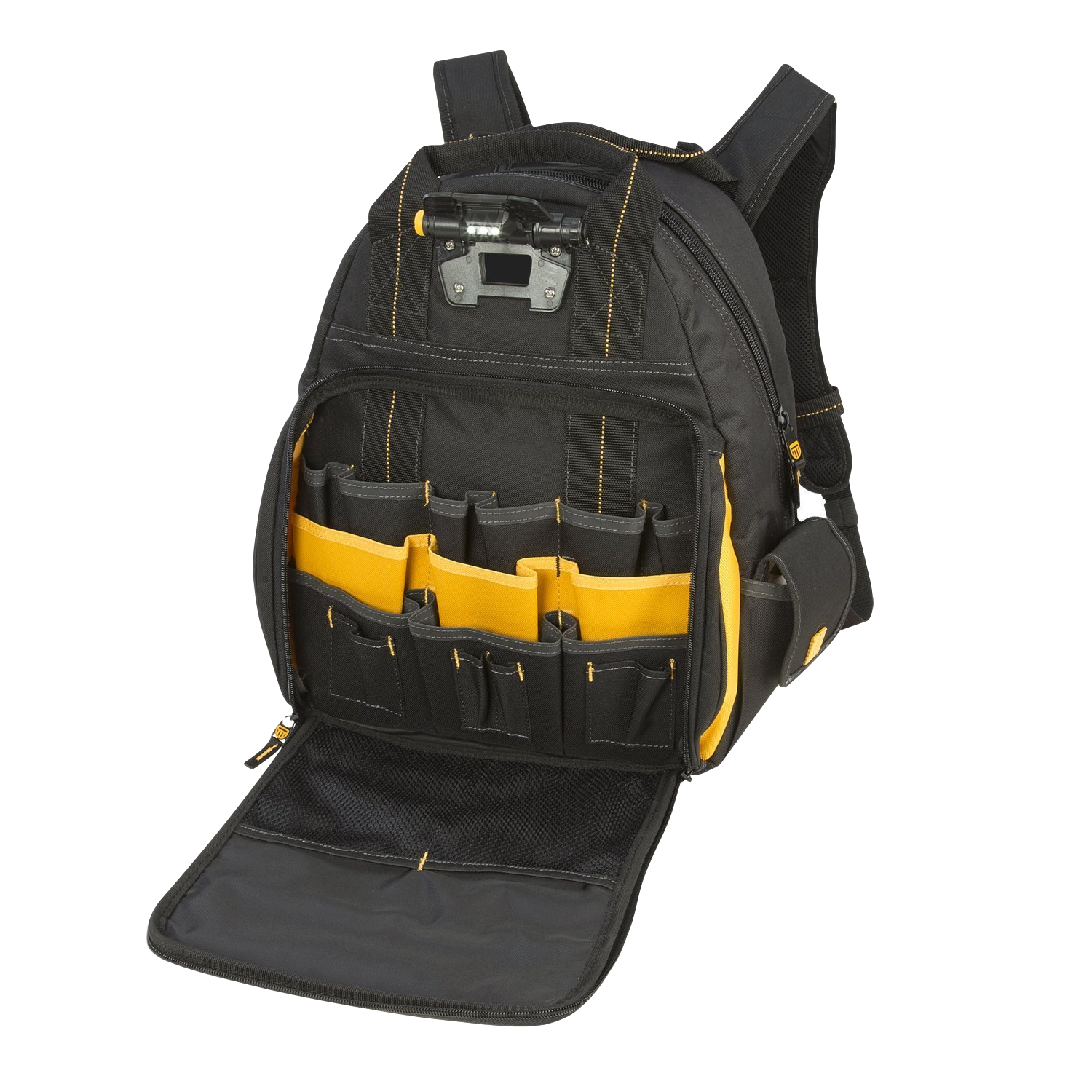 DEWALT-DGL523-Lighted-Tool-Backpack-open