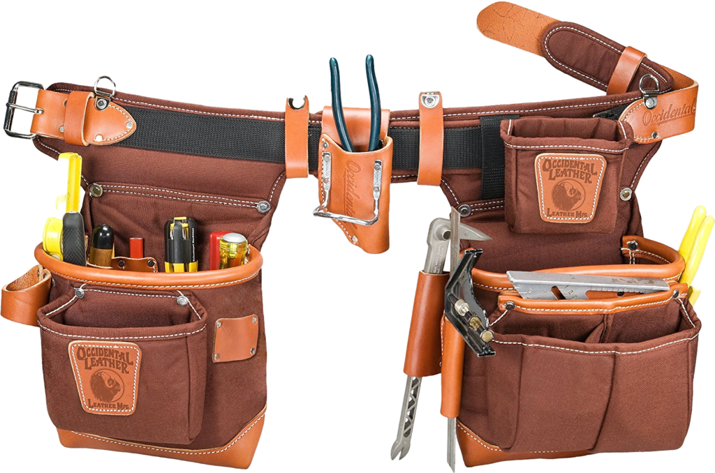 Occidental-Leather-9855LH-Adjust-to-Fit-Fat-Lip-Tool-Bag-Set-Cafe